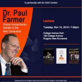 NJHP at Paul Farmer Lecture at Rutgers6