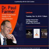 NJHP at Paul Farmer Lecture at Rutgers6